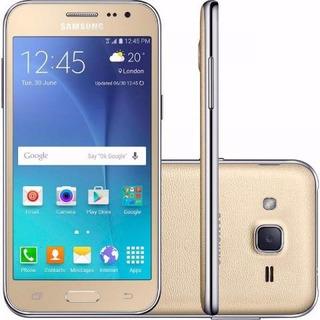 Celular Samsung Galaxy J2 Sm-j200h/dd Dual Tela 4.7 Dourado