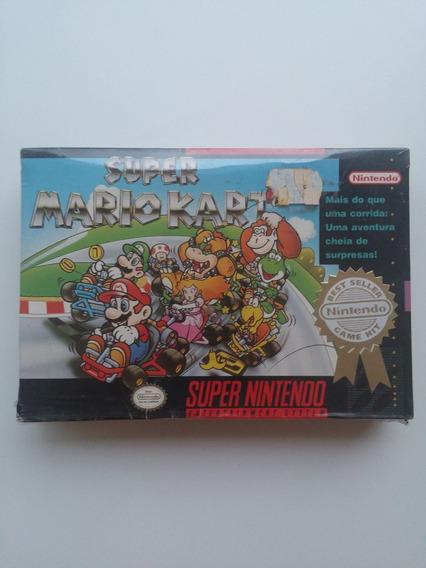 Super Nes: Super Mario Kart N O V O!! Jogo Lacradinho!!
