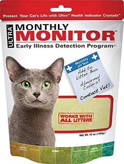 Ultra Cat Health Monthly Monitor Crystal 16oz