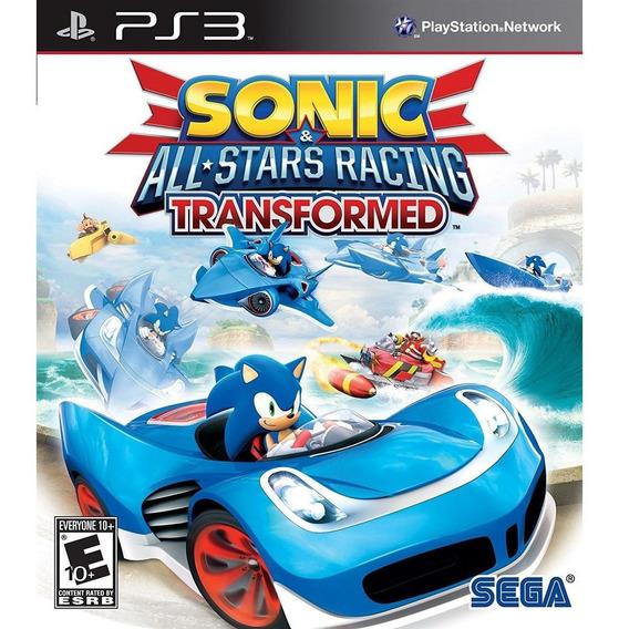 Sonic And All-stars Racing Transformed Ps3 Mídia Física