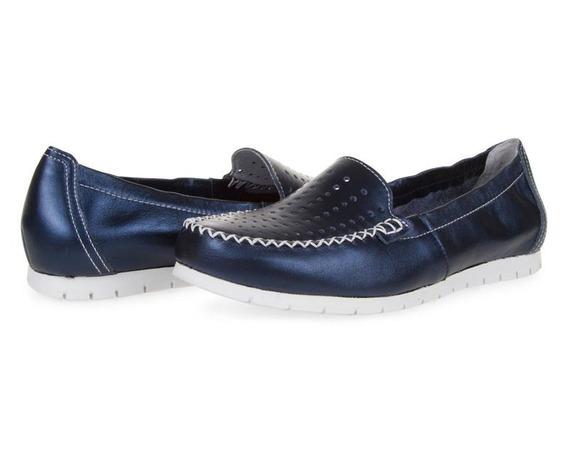 Zapatos Azules Para Mujer Flexi Pr-8092212