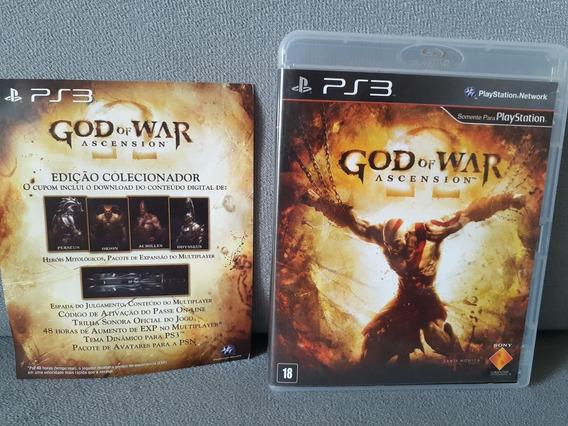 ( Frete R$ 9.90 ) God Of War Ascension Português Ps3 Fisica