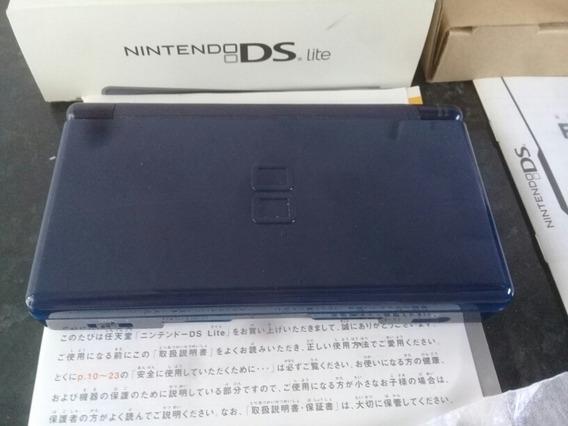 Nintendo Ds Lite Azul Marinho Japones Na Caixa