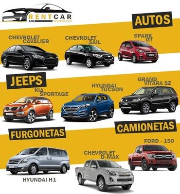 Aquiler De Autos Sedán, Suv Y Furgonetas - Rentcar Ecuador