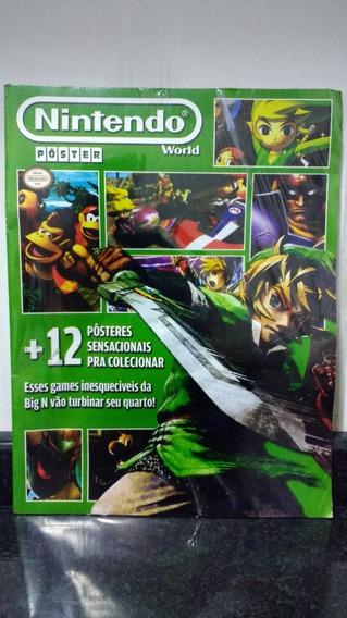Nintendo World Poster 2 Lacrado C/ Zelda Pokemon Donkey Rjhm