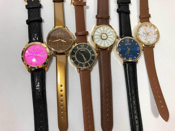 10 Relógios Eura + Bateria Extra + Atacado + Revenda