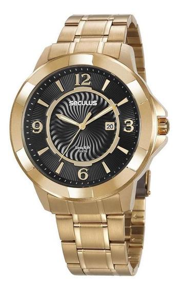 Relógio Seculus Masculino 20755gpsvda2