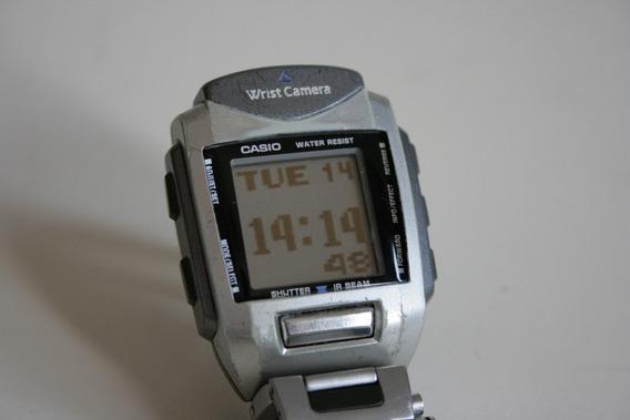 Antigo Relógio Casio Wqv-1 O 1° C/ Camera Fabricado No Mundo