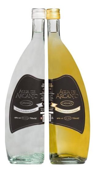 Kit Cachaça Premium Ouro E Prata 750ml - Água De Arcanjo