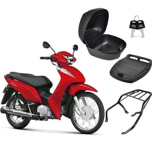 Imagem 1 de 5 de Bau Moto Bauleto 28 Litros + Bagageiro Biz 125 Até 2010