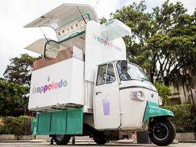 Motocarro Piaggio Food Truck Especial Para Venta De Bebidas