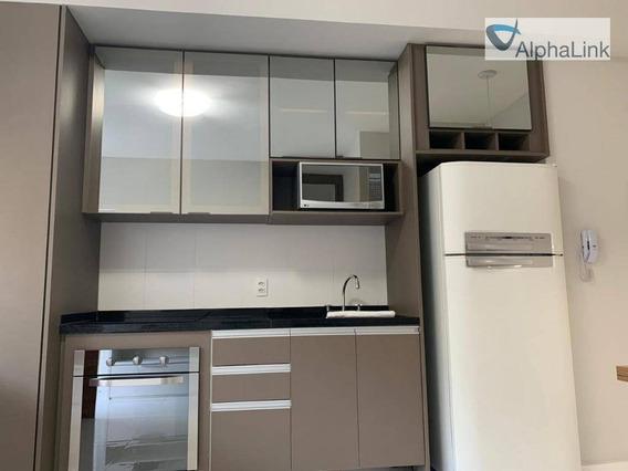 Apartamento Semi-mobiliado Com 50 M2, 2 Vagas - Ap1523