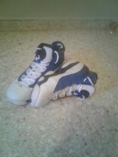 Tenis Jordan 6 Anillo Azules. Size 10.5