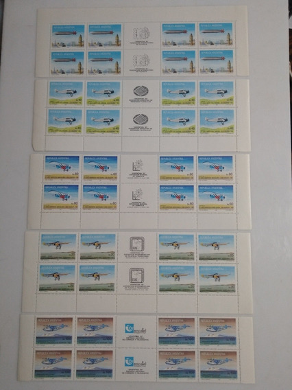 Estampilla Argentina,85,aviones,gj-2197-2201