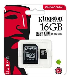 Izalo: Tarjeta De Memoria Kingston Micro Sd 16gb Clase 10