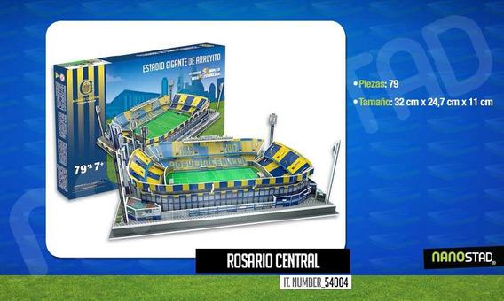 Maqueta Estadio 3d Para Armar Con Luces !!! Rosario Central