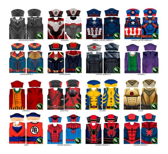 Arte Para Camisas De Super Heróis - 28 Modelos Exclusivos
