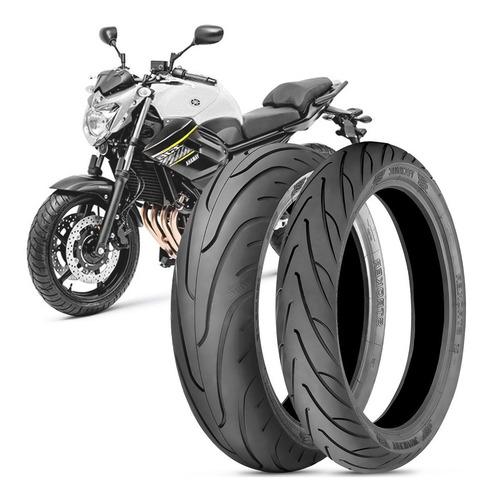 Imagem 1 de 3 de 2 Pneu Moto Yamaha Xj6 160/60-17 69v 120/70-17 58v Stroker