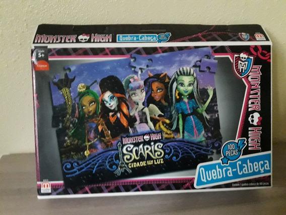 Quebra Cabeça Puzzle Lote Com 3 Monster High E Pony