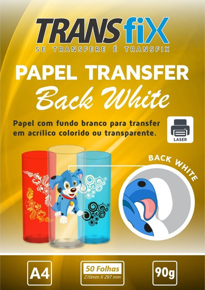 Papel Transfer Laser Back White Fundo Branco Transfix