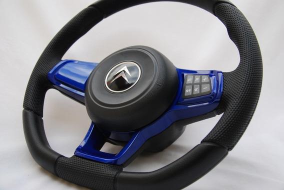 Volante Esportivo Comando De Som Azul Citroën C3 Gti Mk7