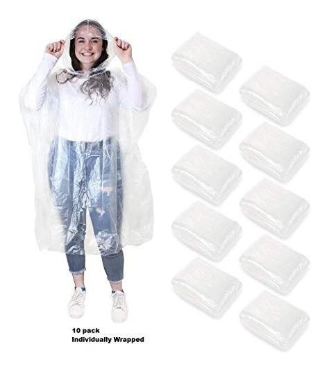 Ponchos Desechables De Emergencia Para Lluvia Impermeables C