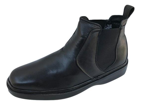 Zapato Botin Office Comfort 14803ak Hombre Piel Cabra Negro
