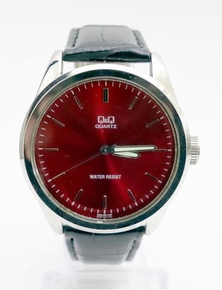 Reloj Qq Caratula Roja De 4cm Para Caballero