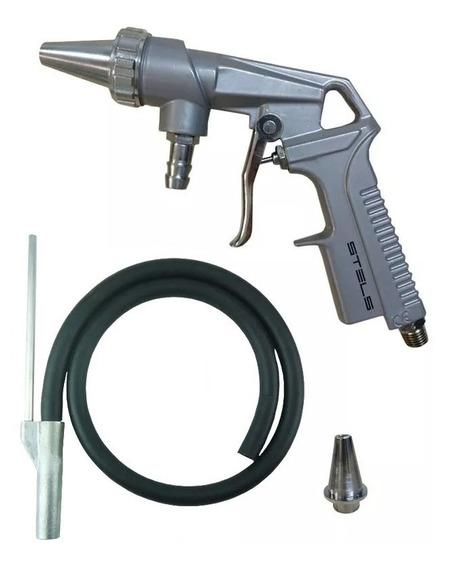 Pistola De Jato De Areia - Master Com Mangueira 2 Bicos Mtx
