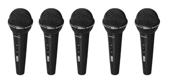 Kit 5 Microfones Waldman Karaoke K580 Cachimbo +cabo +estojo