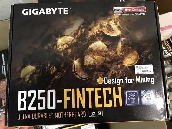 Placa Mãe Gigabyte Lga 1151 Ga B250 Fintech Mineração