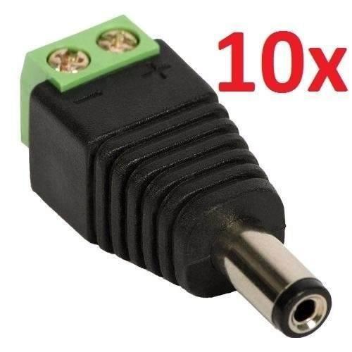 Plug P4 Macho Kit 10 Peças Câmeras Adaptador Alimentação Bnc