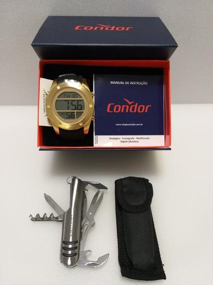 Relógio Masculino Condor Cobj3463f/3d Original + Brinde