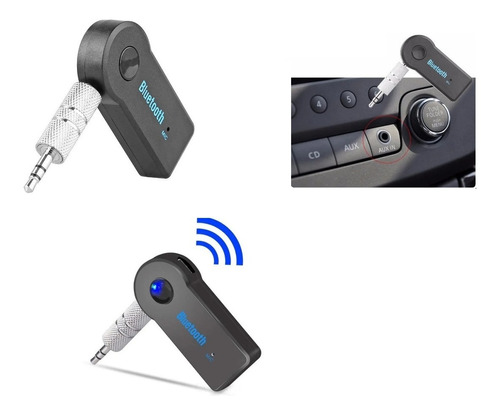 Receptor Bluetooth Recargable Adaptador De Audio 3.5mm