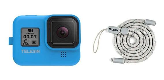Capa Protetora De Silicone Gopro Hero8 Black Camera Telesin