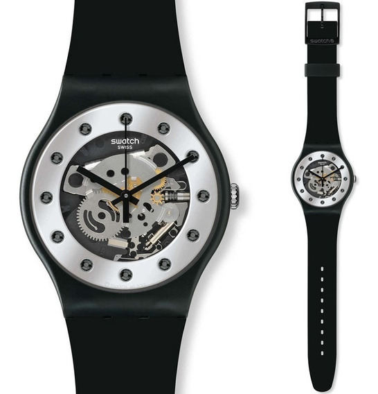 Relógio Pulso Analógico Quartzo Swatch Silver Glam Original