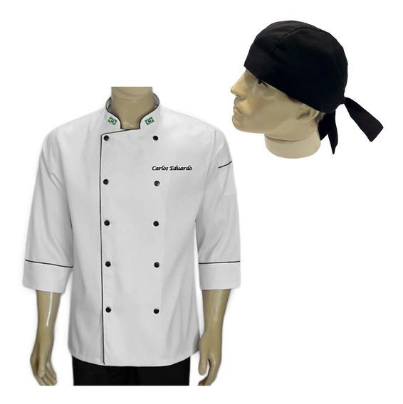 Doma Bandana Chef Gastronomia Cozinheiro Chef Personalizado