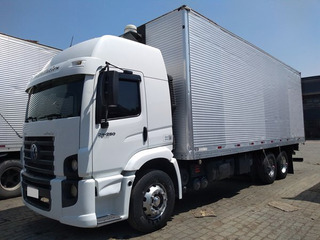 Vw 24250 Const Truck 6x2 Ano 2010-11 Baú, Completo.