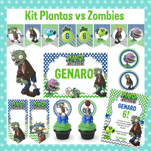 Kit Imprimible Plantas Vs Zombies