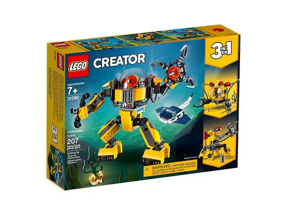 Blocos De Montar Lego Creator Robo Subaquatico 3 Em 1 31090