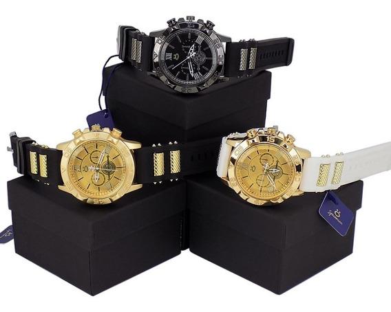 Kit 3 Relógios Masculinos Pulseira Couro 12 X Sem Juros!