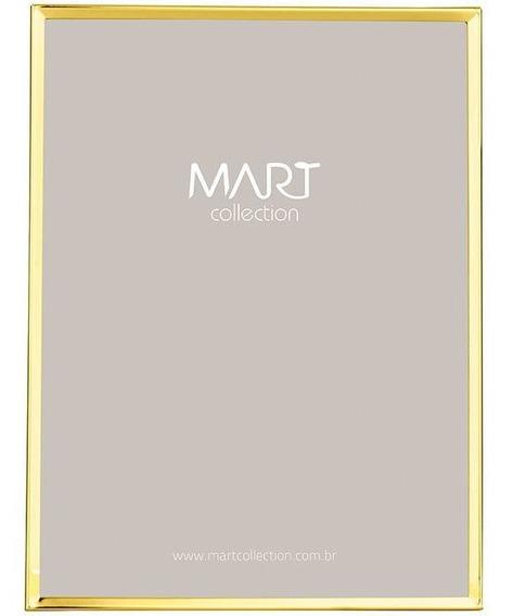 Porta Retrato Dourado Em Metal 20x25 Cm 8126 Mart