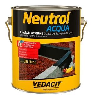 Impermeabilizante Asfáltico Neutrol Acqua Galão 3,6litros