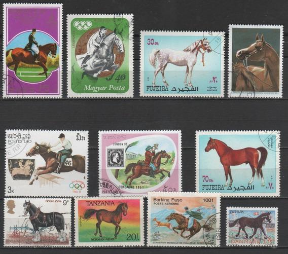 Cavalos - Coleção De Selos - 7826