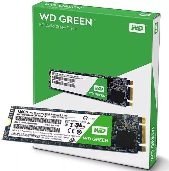 Hd Ssd M.2 M2 Sata Wd Green 120gb 2280 Wds120g2g0b