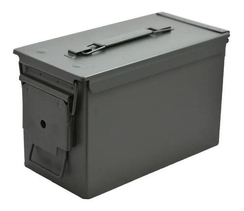 Imagem 1 de 10 de Caixa De Munição Em Aço 30x19x15cm Ammo Box 50 Arsenal Rio