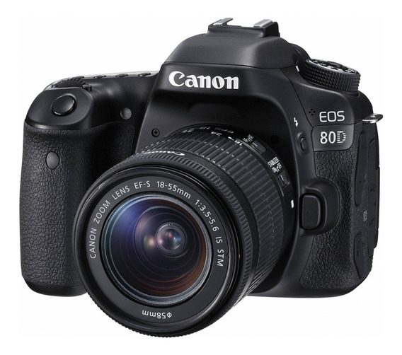 Canon EOS 80D 18-55mm IS STM Kit DSLR color negro