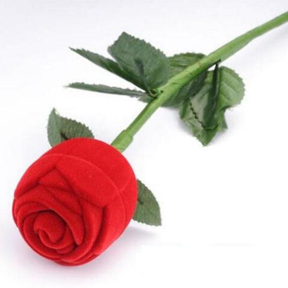 Porta Jóias/porta Anel Rosa Vermelha - Importado Lindo