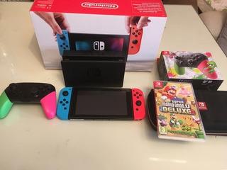 Nintendo Switch Mas 3 Juegos Mas Estuche 2019