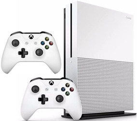 Xbox One S 1tb, 1 Ano De Garantia, 2 Contrs, Nf 12x S/ Juros